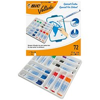 Bic Velleda 1721 Drywipe Marker Fine Tip Assorted (Pack of 72)