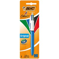 Bic 4 Colour Retractable Ballpoint Pen Blister (Pack of 10)