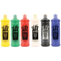 Brian Clegg Ready Mix Paint, Asssorted, 6 x 600ml