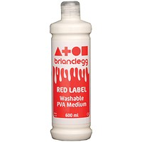 Brian Clegg Red Label PVA Glue - 600ml