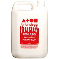 Brian Clegg Red Label PVA Glue - 5 Litre