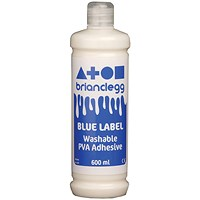 Brian Clegg Blue Label PVA Glue - 600ml