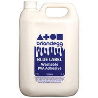 Brian Clegg Blue Label PVA Glue - 5 Litre