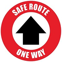 Social Distance Marker - Safe Route One Way, 235mm