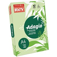 Adagio Coloured Card - Mid Green, A4, 160gsm, Ream (250 Sheets)