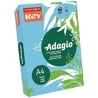 Adagio Coloured Card - Mid Blue, A4, 160gsm, Ream (250 Sheets)