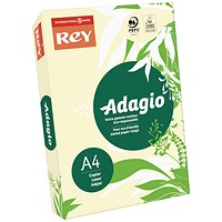 Adagio Coloured Card - Ivory, A4, 160gsm, Ream (250 Sheets)