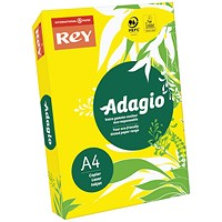 Adagio Coloured Card - Intense Yellow, A4, 160gsm, Ream (250 Sheets)
