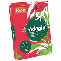 Adagio Coloured Card - Intense Red, A4, 160gsm, Ream (250 Sheets)