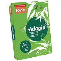 Adagio Coloured Card - Intense Green, A4, 160gsm, Ream (250 Sheets)