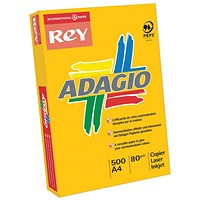Adagio Coloured Card - Assorted Bright Colours, A4, 160gsm, Ream (250 Sheets)