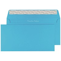 Blake Plain Blue DL Envelopes, Peel & Seal, 120gsm, Pack of 250