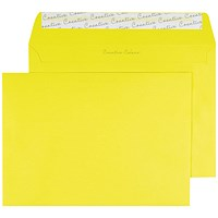 Blake Plain Yellow C5 Envelopes, Peel & Seal, 120gsm, Pack of 250