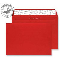 Blake Plain Red C4 Envelopes, Peel & Seal, 120gsm, Pack of 250