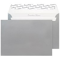 Blake Plain Silver C5 Envelopes, Peel & Seal, 120gsm, Pack of 250