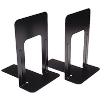 Deluxe Large Bookends Black, 230mm Large, One Pair