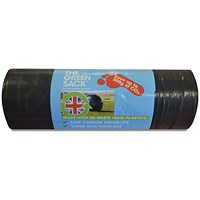 The Green Sack Medium Duty Refuse Sack on a Roll Black (Pack of 15)