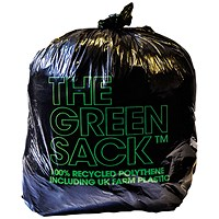 The Green Sack Medium Duty Refuse Sack (Pack of 200)