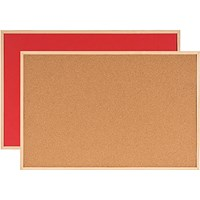 Bi-Office Double-Sided Board Cork and Felt 600x900mm