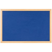 Bi-Office Earth Felt Notice Board 1200x900mm Blue