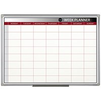Bi-Office Magnetic Week Planner, Mounted, 900x600mm