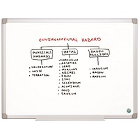 Bi-Office Earth Non-Magnetic Melamine Drywipe Board 1800x1200mm