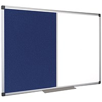 Bi-Office Drywipe and Felt Combination Board 1200x900mm