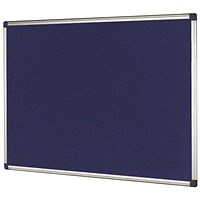 Bi-Office Aluminium Trim Felt Noticeboard 1800x1200mm Blue