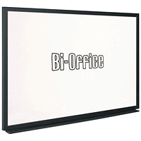 Bi-Office Black Frame Whiteboard 900x600mm