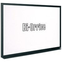 Bi-Office Black Frame Drywipe Board 600x450mm