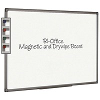 Bi-Office Aluminium Finish Magnetic Whiteboard 600x450mm