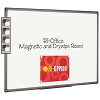 Bi-Office Aluminium Finish Magnetic Whiteboard 1200x900mm