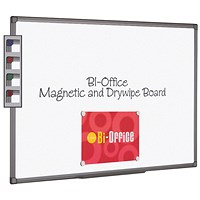 Bi-Office Aluminium Finish Magnetic Whiteboard 900x600mm