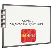 Bi-Office Magnetic Whiteboard 1800x1200mm Aluminium Finish