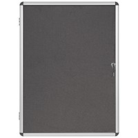 Bi-Office Internal Display Case 600x900mm Grey