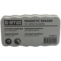Bi-Office White Lightweight Magnetic Eraser AA0105