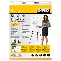 Bi-Office Self-Stick Flipchart Pad 635x762mm 30 Sheet White (Pack of 2)