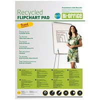 Bi-Office Earth Plain Flipchart Pad A1 40 Sheet (Pack of 5)
