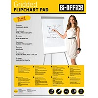 Bi-Office Gridded Flipchart Pad A1 40 Sheet (Pack of 5)