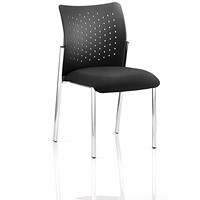 Academy Visitor Chair, Plastic Back, Black