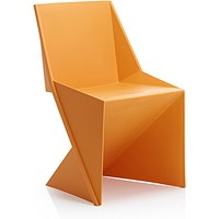 Freedom Polypropylene Visitor Stacking Chair - Orange