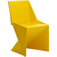 Freedom Polypropylene Visitor Stacking Chair - Yellow