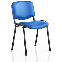 ISO Stacking Chair - Blue Vinyl