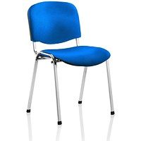 ISO Chrome Frame Stacking Chair - Blue