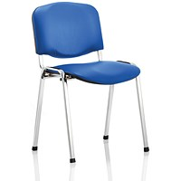 ISO Chrome Frame Stacking Chair - Blue Vinyl
