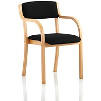 Madrid Visitor Chair, Arms, Black