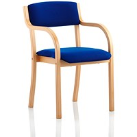 Madrid Visitor Chair, Arms, Blue