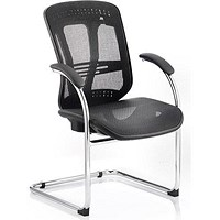 Mirage Mesh Visitor Chair, Black, Built