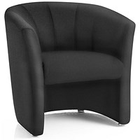 Neo Single Seat Fabric Tub Chair - Black