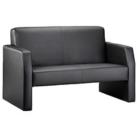 Oracle Twin Seat Leather Sofa - Black